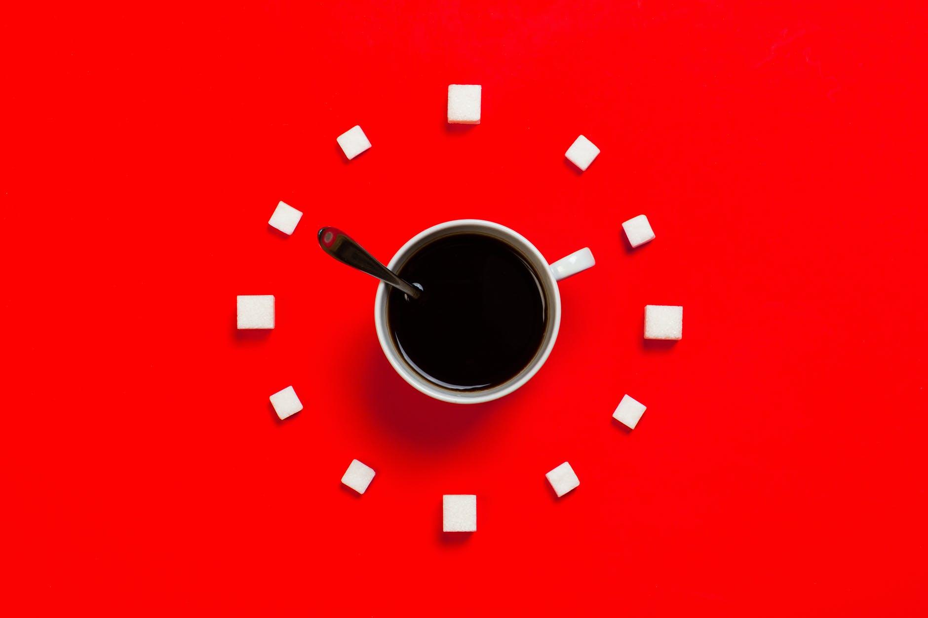 Coffee cup clock face