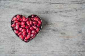 Seeds in a heart shaped tin